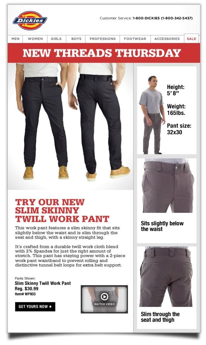 New Threads Thursday: Slim Skinny Twill Work Pant