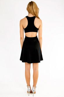 Cut Out V-Tank Skater Dress $33