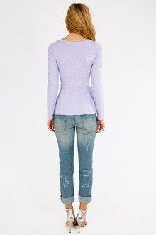 Rose Stitch Peplum Top $33