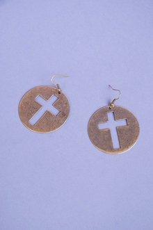 Framed Cross Earrings $8