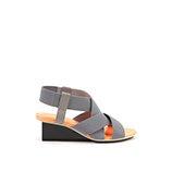 Solid XX Elastic Mid | Grey + Neon Orange