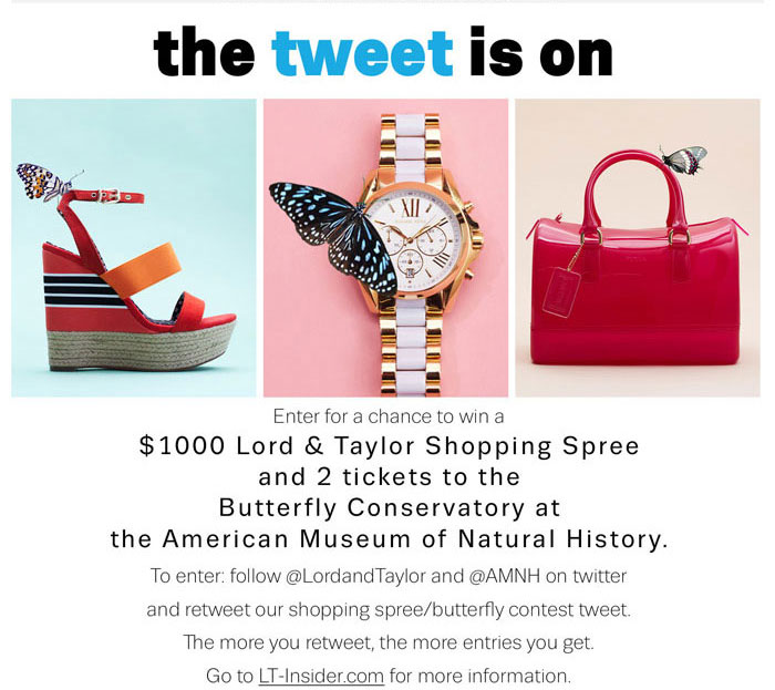 Enter to win a $1000 Lord & Taylor Shopping Spree