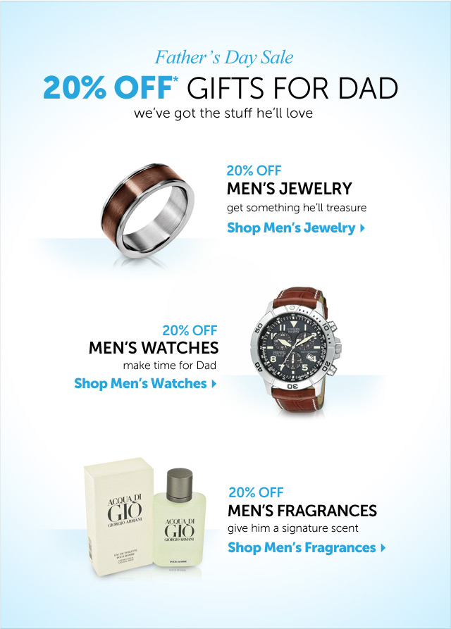 Father's Day Sale - 20% OFF* Gifts For Dad - we've got the stuff he'll love
