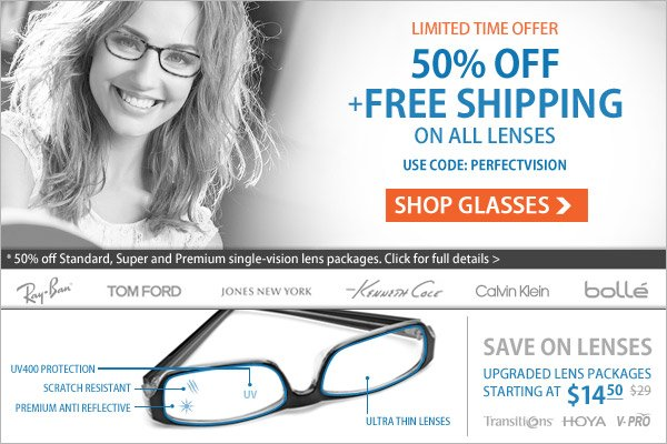 Lenses At The Half Price!