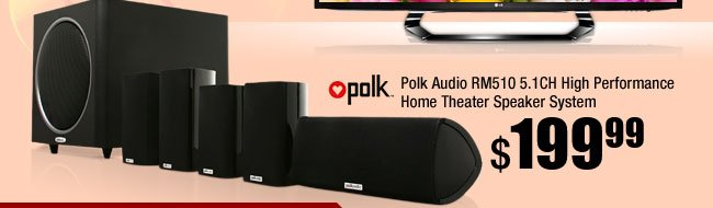 Polk Audio RM510 5.1CH High Performance Home Theater Speaker System