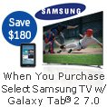 Samsung - When You Purchase Select Samsung TV w/ Galaxy Tab 2 7.0