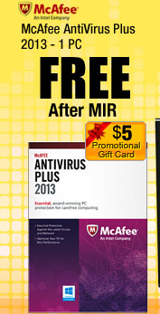 McAfee AntiVirus Plus 2013 - 1 PC