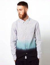 Wood Wood Shirt with Dip Dye Print