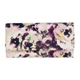 Paul Smith Purses - Hazy Pansies Print Leather Tri-Fold Purse