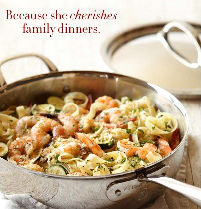 Because she cherishes family dinners.