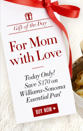Gift of the Day -- For Mom with Love -- Today Only! Save $170 on Williams-Sonoma Essential Pan* -- BUY NOW