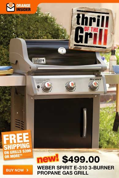 Thrill of the Grill Weber Spirit E-310 3-Burner Propane Gas Grill