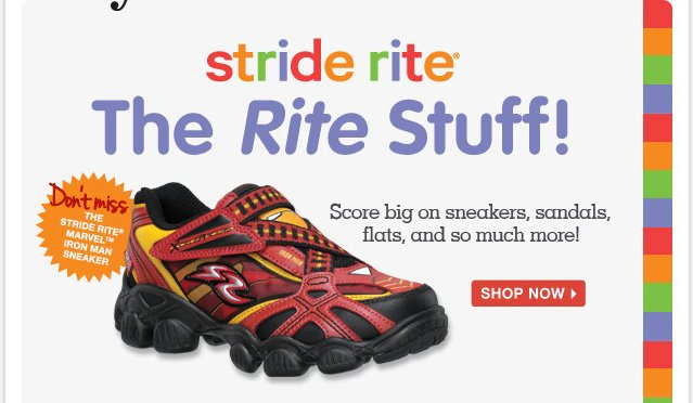 Stride Rite is back in action! Shop signature Totsy values on the kid-favorite footwear brand.