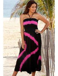 Diagonal Tie Dye Smock Dress by Swim & Sun