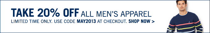 Take 20% OFF all Men's styles! Limited time only!