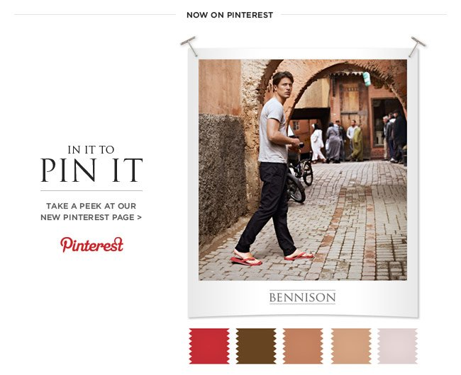 In it to Pin It - Take a peek at our new Pinterest Page >