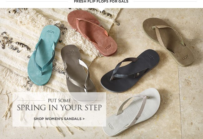 Put some spring in your step - Shop women's sandals >