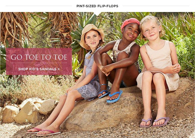 go toe to toe - Shop kid's sandals >