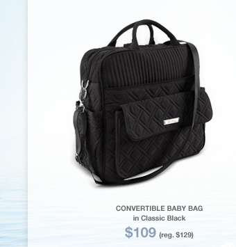 Convertible Baby Bag in Classic Black - $109