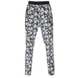 Folded Floral Print Silk Trousers