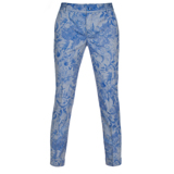 Surrealist Collage Print Chambray Trousers