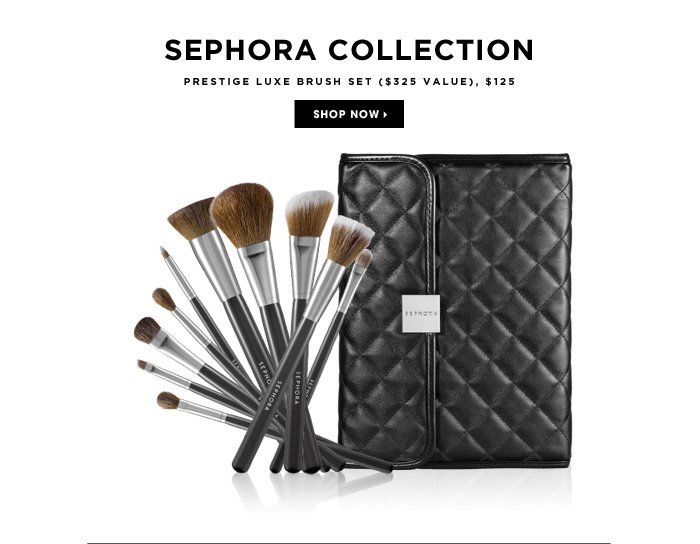 new. SEPHORA COLLECTION. Prestige Luxe Brush Set ($325 Value), $125