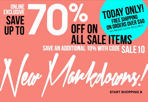 Take 10% off All Markdowns! Online Exclusive with code SALE10