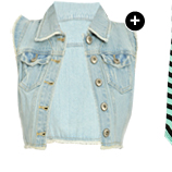 Shop Frayed High-Low Denim Vest