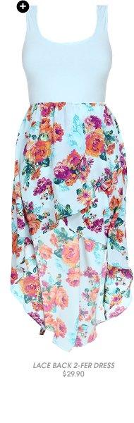 Shop Lace Back 2-Fer Dress