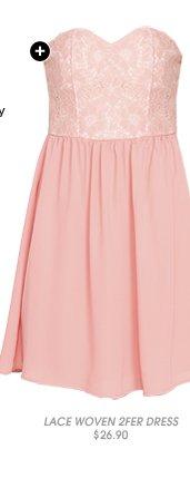 Shop Lace Woven 2fer Dress