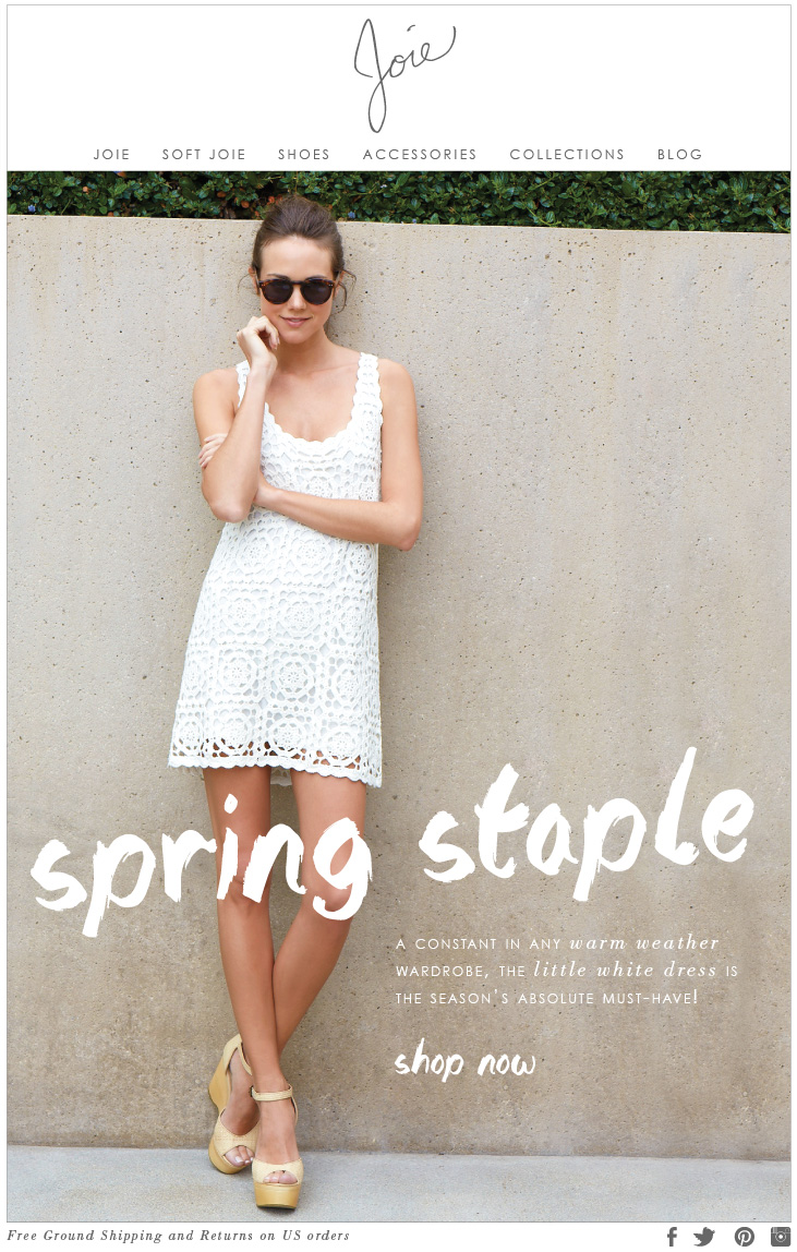 A CONSTANT IN ANY warm weather WARDROBE, THE little white dress IS THE SEASON'S ABSOLUTE MUST-HAVE! shop now