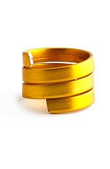 The Tri Wrap Stackable Ring in Gold