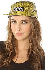 The Dimepiece 5 Panel Hat in Yellow Snake
