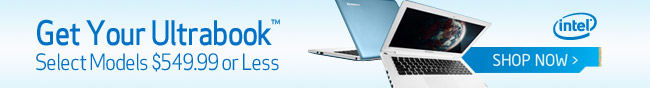 Intel - Get Your Ultrabook Select Models 549.99 or less