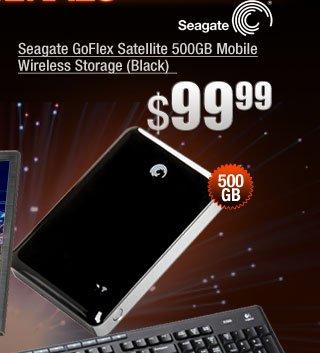 Seagate GoFlex Satellite 500GB Mobile Wireless Storage (Black)