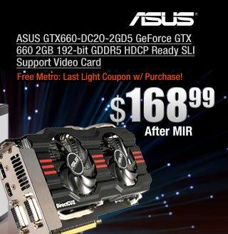 ASUS GTX660-DC2O-2GD5 GeForce GTX 660 2GB 192-bit GDDR5 HDCP Ready SLI Support Video Card