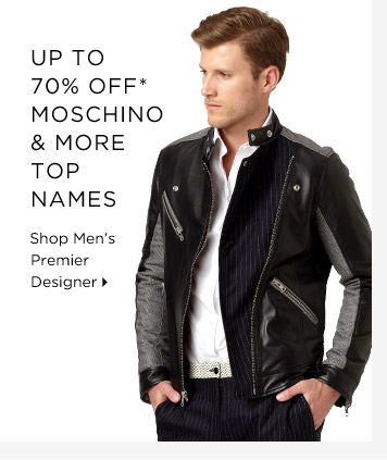 Up To 70% Off* Moschino & More Top Names