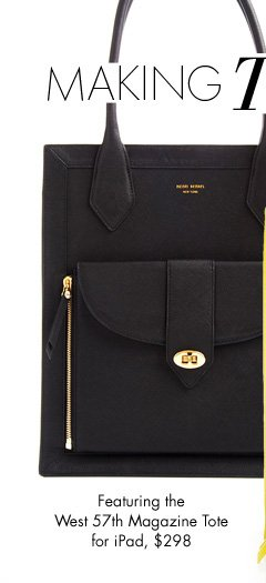 Featuring the West 57th Magazine Tote for iPad, $298