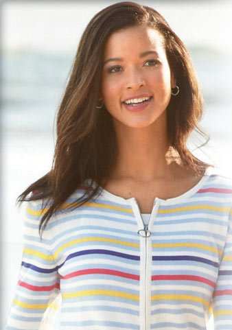 Just right. From smart zip-front cardigans to relaxed cozy pullovers, we have the ideal sweater for your summer.