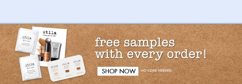 shopnow - free samples with every order!