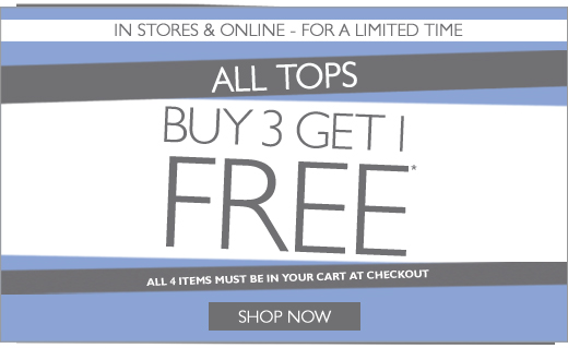 All Tops Buy 3 get 1 Free!