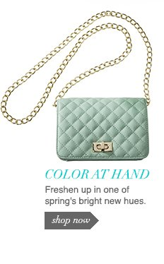 Freshen up in one of spring's bright new hues