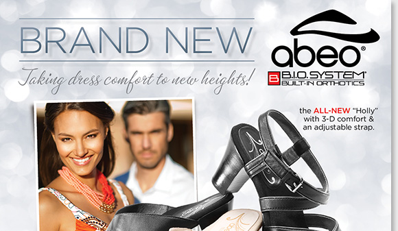 This summer, experience the custom 3-D fit comfort of the stylish NEW ABEO B.I.O.system 'Holly' and 'Harmony' Dress Sandals from our #1 sandal brand! Featuring built-in orthotics, enjoy reduced shock and stress on joints, increased stability, and the ultimate style! Shop now for the best selection at The Walking Company.