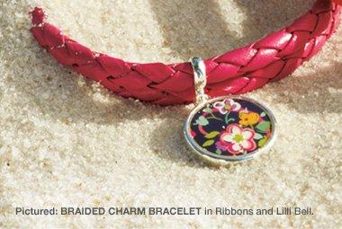 Braided Charm Bracelet in Ribbons