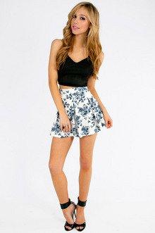 Floral It's Worth Skater Skirt $33