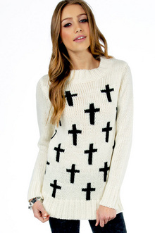 Multi Cross Your Sweater $47