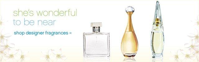 She's wonderful to be near. Shop designer fragrances.