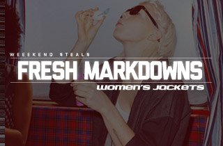 Fresh Markdowns: Women's Jackets