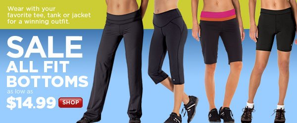 Fitness Bottoms on Sale: As low as $14.99