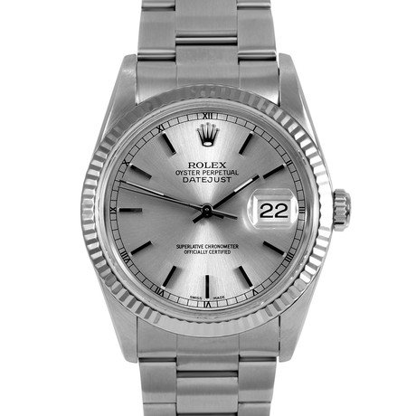 Rolex Datejust Stainless Steel + White Gold // c. 1990